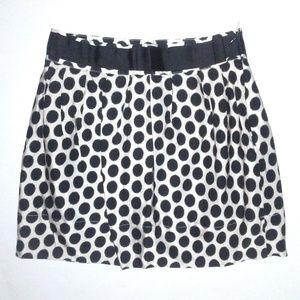 Forever 21 Size S Black White Polka Dot Mini Skirt